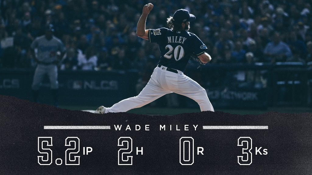 Scoreless on the mound, two hits at the dish.      That's big time. #NLCS https://t.co/9wCdvLZgZ4