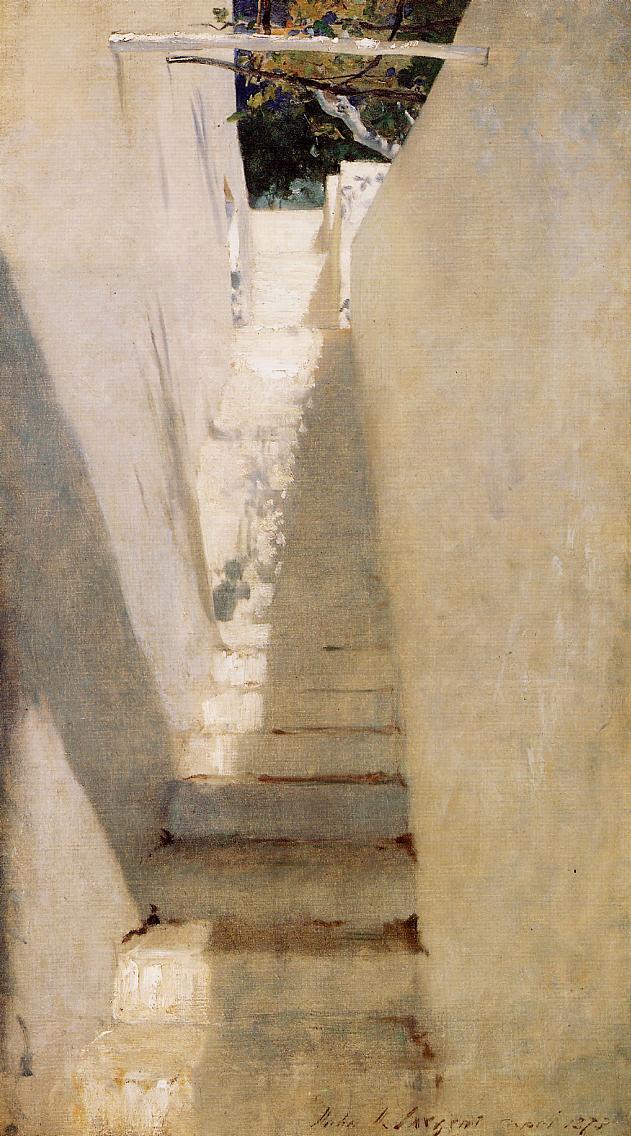 Staircase in Capri wikiart.org/en/john-singer… #johnsingersargent #impressionism