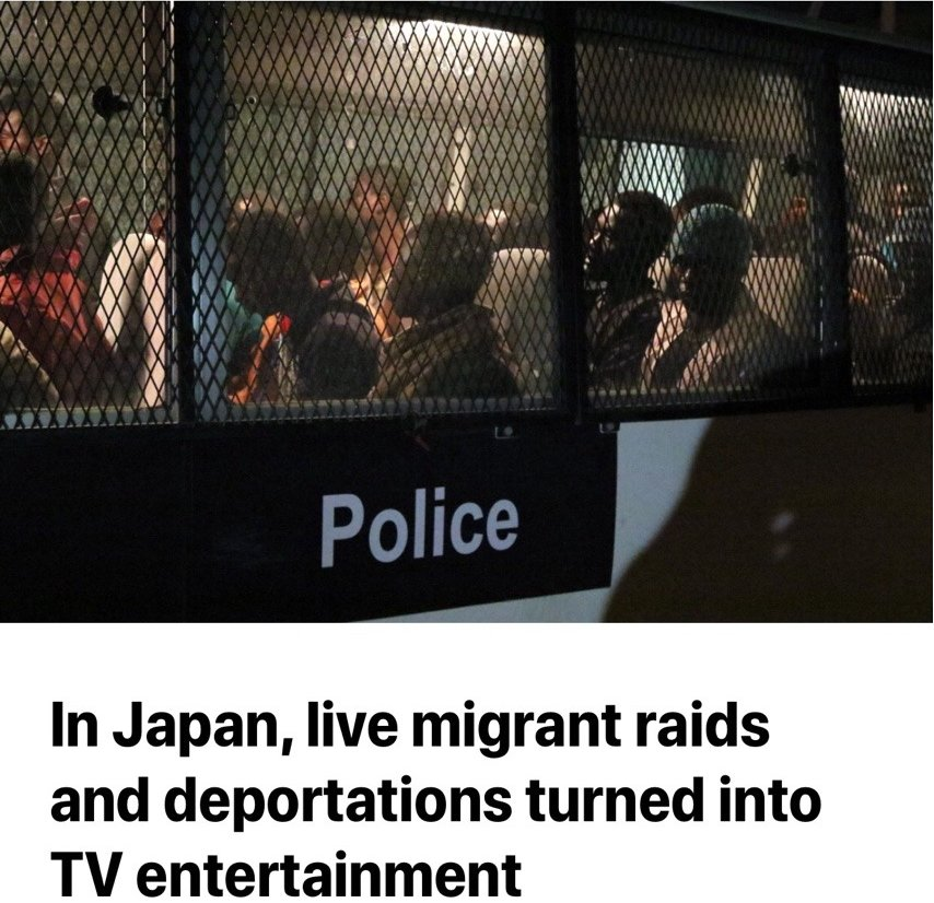 In Japan, migrant raids and deportations turned into TV entertainment DpaESC5U8AAA_hn