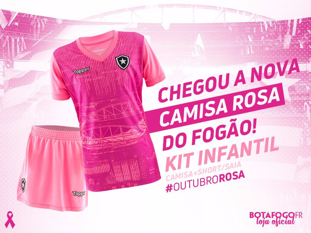 Chegou o kit infantil da camisa do GLORIOSO em alusão ao Outubro Rosa!  Garanta o seu e7bf0c23f910d