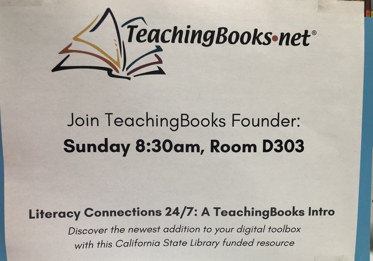 test Twitter Media - #FallCUE excited for Sunday AM session to share how every CA student and school (k12) now can have resonating author and book materials the moment a book is read. The CA State Library licensed @TeachingBooks for everyone! Please spread the word. True #equity! @KatieJMcNamara https://t.co/5Ys6JNUCD3