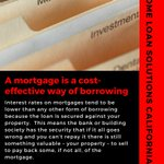 Image for the Tweet beginning: A mortgage is a cost-effective
