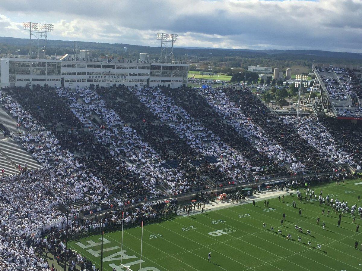 Blue &amp; White at Penn State @Steelersdepot @Alex_Kozora <br>http://pic.twitter.com/H3NNULEHXR