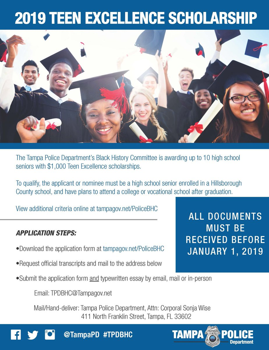 Calling All Hillsborough County High School Seniors! Here&#39;s your chance to receive $1k to help you further your education  <br>http://pic.twitter.com/J4wJJXRoCb