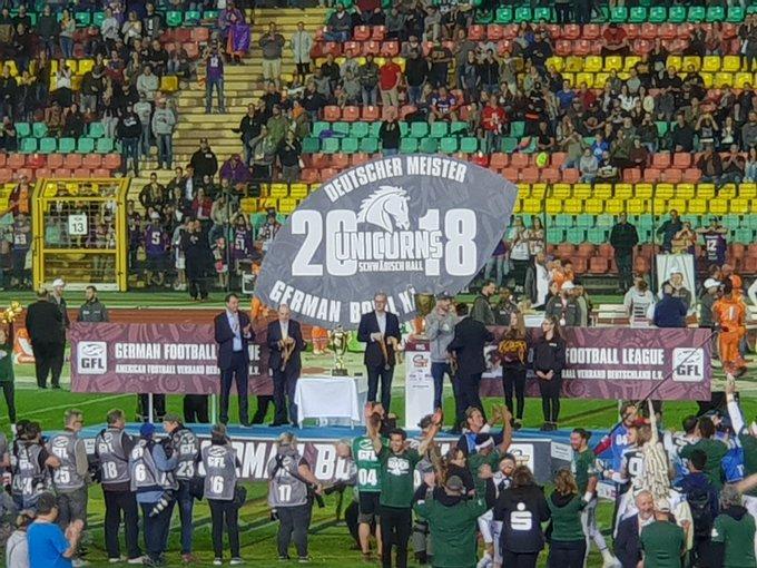 Glückwunsch @unicornsfootbal zum Gewinn des #GermanBowl Sehr geiles Spiel! Foto