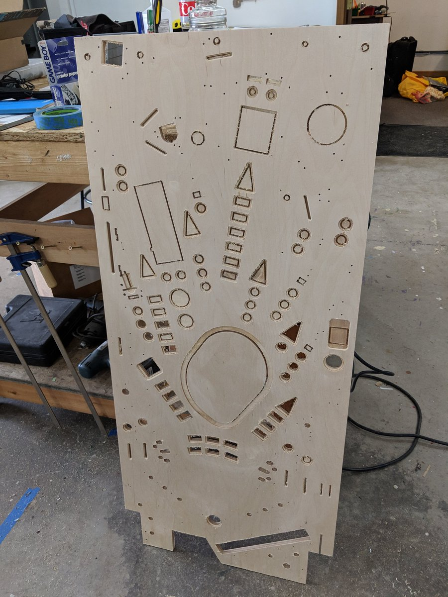 "Ben Heckendorn on Twitter: ""Was tired of waiting for Spooky Pinball so decided to just CNC rout my unreleased pinball game myself.… """