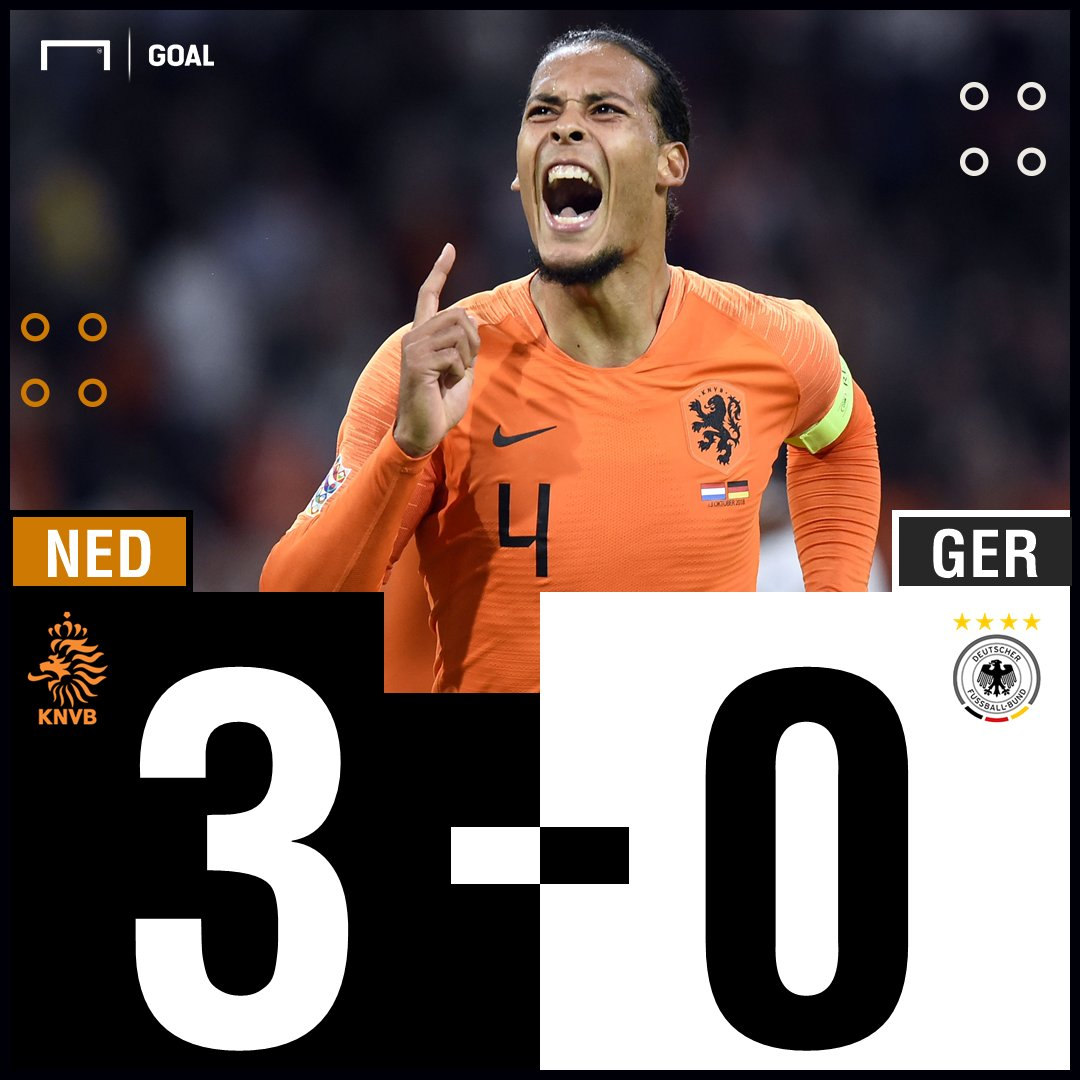 FT: Belanda 3-0 Jerman - https://t.co/9yUkOghGcW #NEDGER #MatchdayGoal https://t.co/jicx2SgzmF