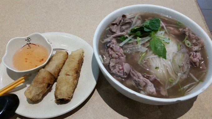 Quick late lunch at Ginger before heading to TADFF at 3pm. Gonna last me until after 8pm. Craving Pho on such a cold day. Photo