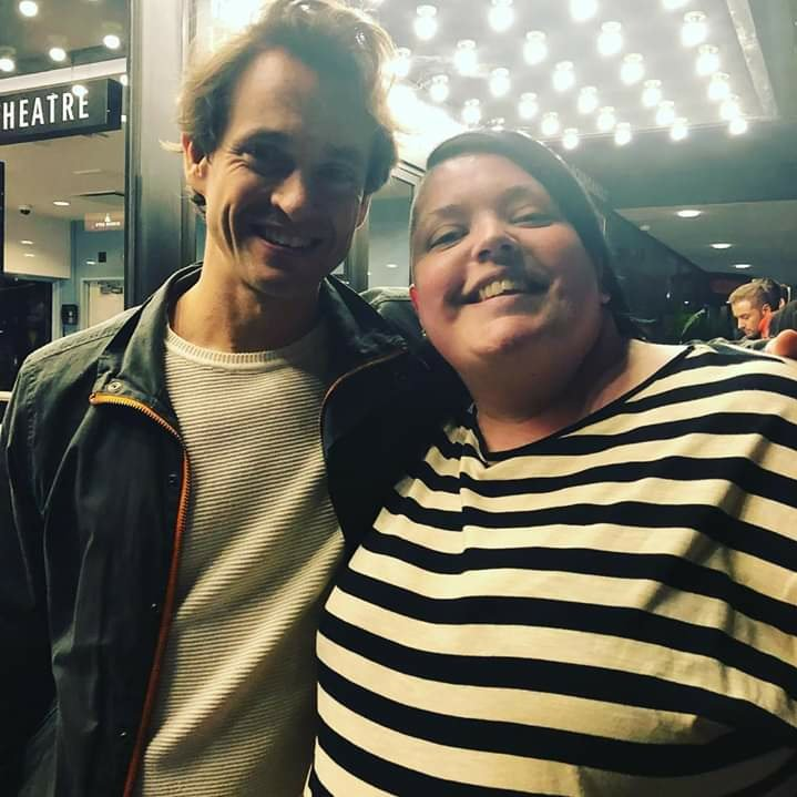 I met #HughDancy and he used my Sharpie to sign autographs and we had a moment and chatted. I also told him how soft his hair looked so <br>http://pic.twitter.com/8SHUrbp0lj