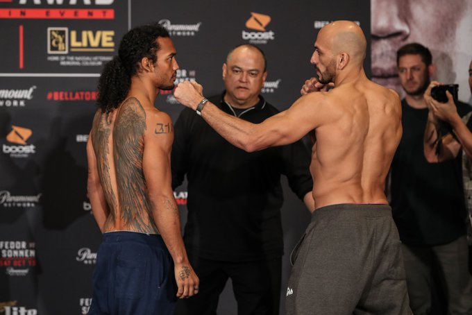 #BellatorxFox Promesa de peleón en peso liviano entre el ex campeón de UFC y WEC, Benson Henderson, y Saad Awad ¿Quién gana? Foto