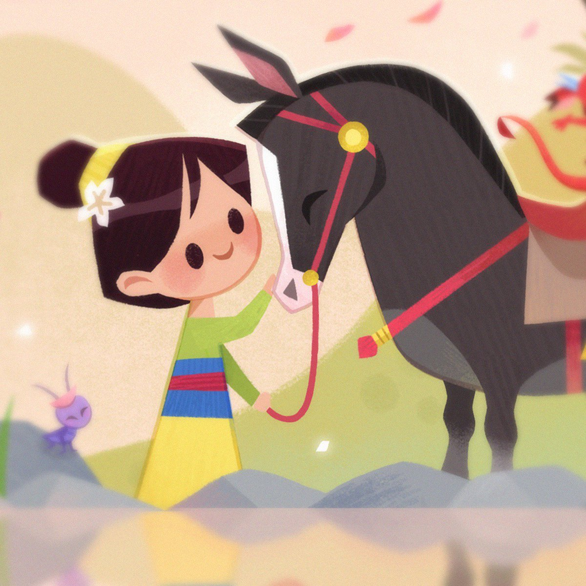 here&#39;s a sneak peek of my piece for Mulan&#39;s 20th anniversary tribute show @gallerynucleus  opening reception is on 10/20 <br>http://pic.twitter.com/XPTMjW8ppM