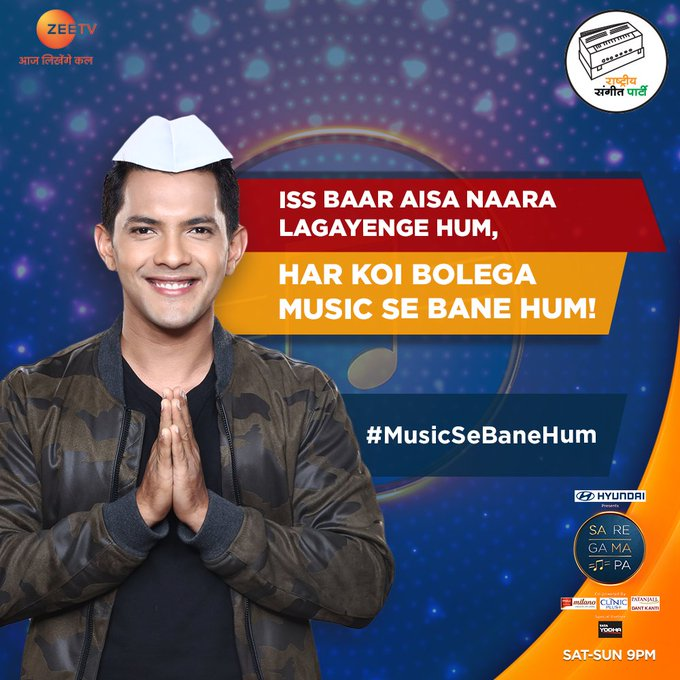 Reply below with #MusicSeBaneHum to make music win! #SRGMP, Sat-Sun at 9PM only on ZeeTV! Photo