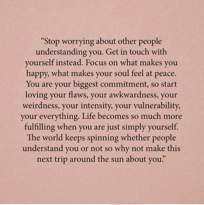 ndang on stop worrying about other people