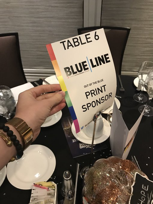 Proud to be a sponsor of this great event! #OutOfTheBlue #servingwithpride Photo