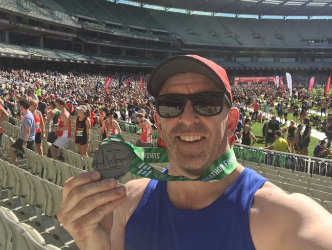 I made it to the MCG. Just under 2hr (I had a toilet stop) but will post my time once confirmed. #melbmara half is ✅ Photo