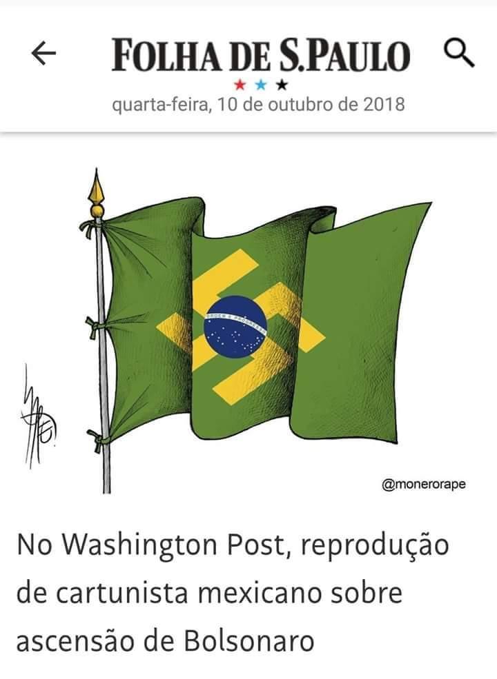 O fujão envergonha o Brasil, mundo afora. #BOL卐ONARO