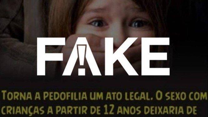 É #FAKE cartaz atribuído a Haddad que diz que projeto de lei torna a pedofilia um ato legal. https://t.co/4VK9YjZgHZ