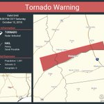 Image for the Tweet beginning: Tornado Warning including Leon County,