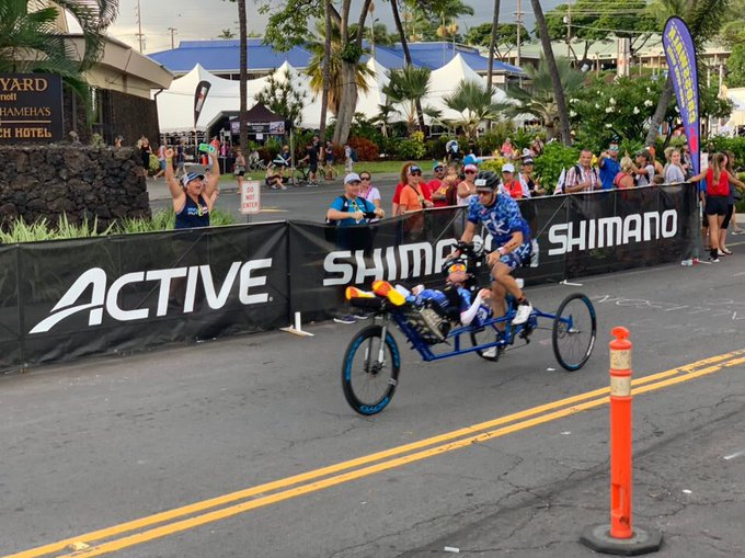 Bike is done and the boys are in T2 getting ready for the run! #KPeasey2Kona #IMWC Photo