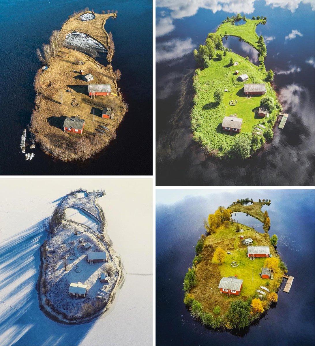 フィンランドの小さな島の四季の写真。なんか目が離せない。