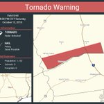 Image for the Tweet beginning: Tornado Warning continues for Leon
