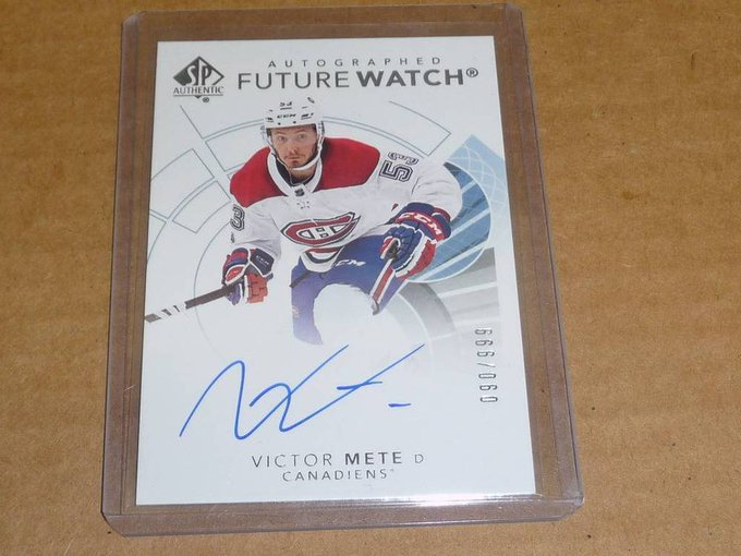 2017/18 SP Authentic VICTOR METE AUTOGRAPH/AUTO CANADIENS /999 H3903: $ (1 Bid) End Date: Saturday Oct-13-2018 18:36:16 PDT Bid now | Add to watch list Photo
