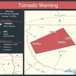 Image for the Tweet beginning: Tornado Warning including Appleby TX,