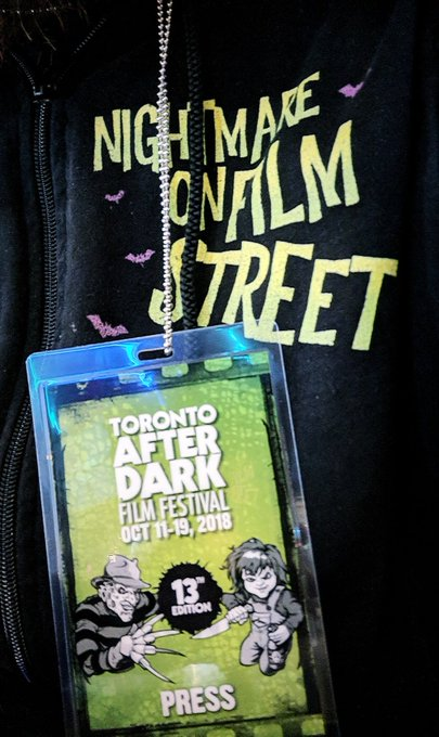Zombie Night at @TADFilmFest with @AATApocalypse and I AM A HERO! 🧟♂️ #TADFF #horror Photo