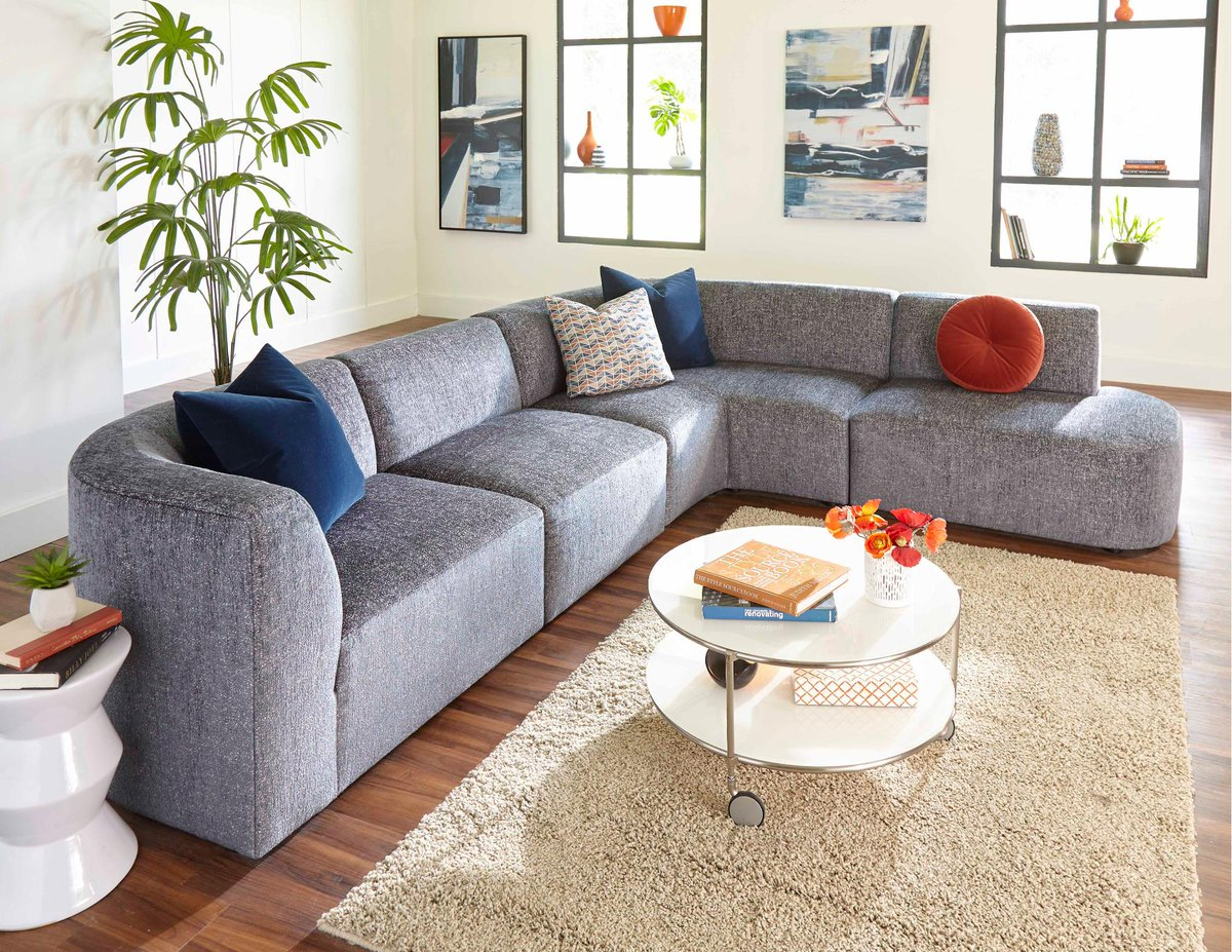 Your Living Spaces Rcwilley Furniture Room Sectionals Fabric 111240514 Modern Slate Gray 4 Piece Sectional Nyla Viewjsp