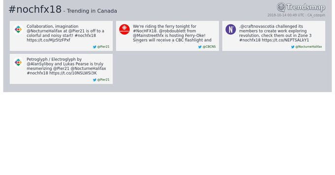 #nochfx18 is now trending in Canada Photo