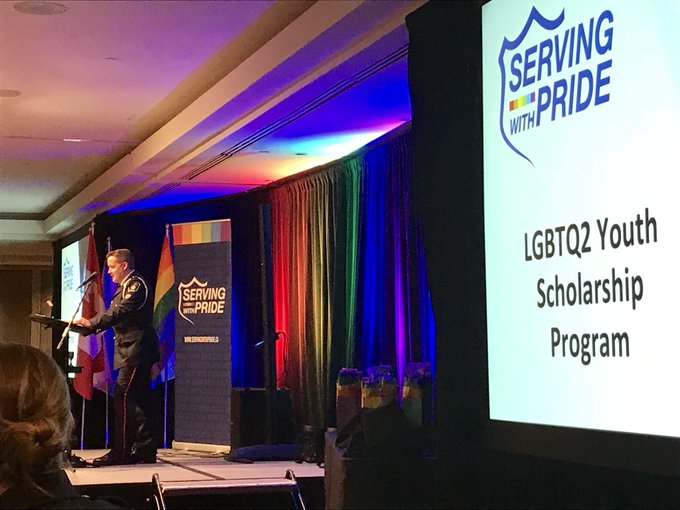 Exciting news from @LGBTQ911 ! #OutOfTheBlue #servingwithpride Photo