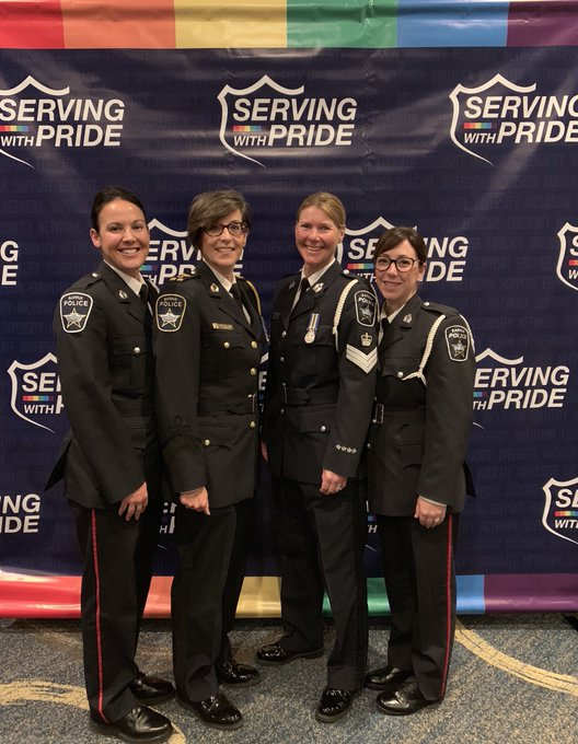 A great evening continues at the 2nd Annual #ServingWithPride #OutOfTheBlue gala. 🏳️🌈@LGBTQ911 Photo