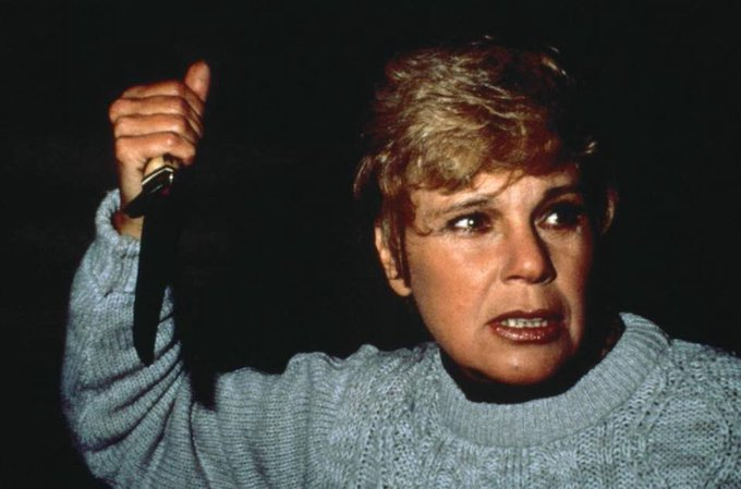"31 Days Of Horror-Day 13 'Pamela Voorhees' She may be a little hot tempered & has no real use for fornicating camp counselors, but every act of violence she perpetrated was in the name of protecting Jason, her ""special boy""... Here's to you Mrs Voorhees. Photo"