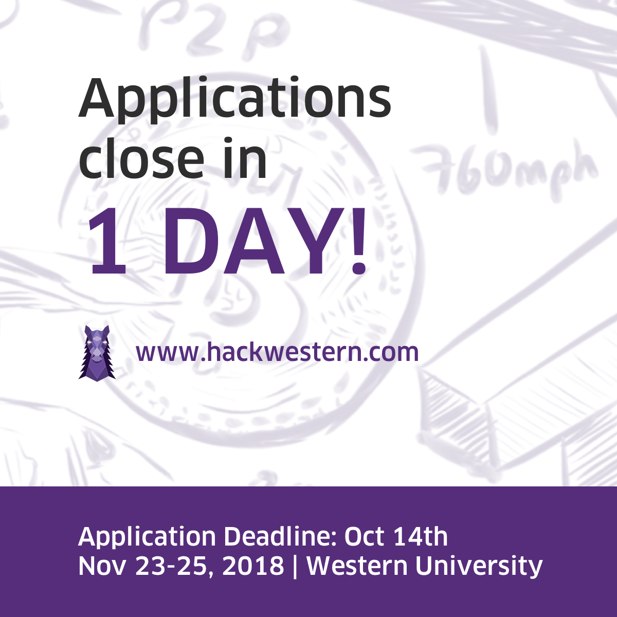 8de42f65 Head on over to https://hackwestern.com and apply! Have any questions? Email  us at hello@hackwestern.compic.twitter.com/M4QYmB26zq