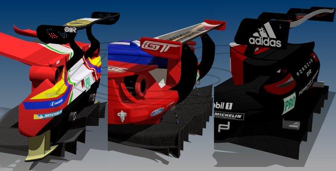#WECxFOX : Diferencias en los difusores y el plano en el aleron trasero en IMSA GTE : Ferrari , Ford y Porsche como referencia . 📸 @pvignone @EnricoTornello Foto