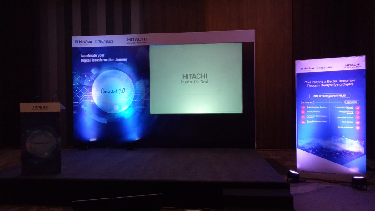 """Hitachi Systems Micro Clinic on Twitter: """"Accelerating digital  transformation for our Customers. Live scenes from Connect 1.0 with @NetApp  @NetAppIndia and @Techdata in Chennai. #DigitalTransformation…  https://t.co/i59QjGqGzd"""""""
