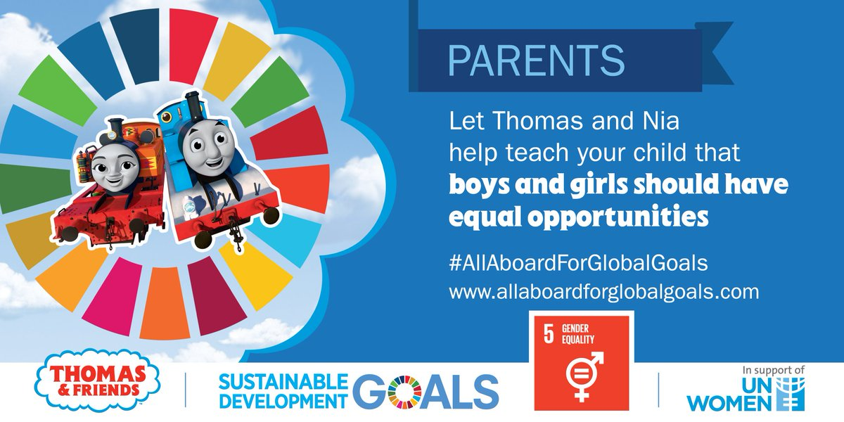 All aboard for #GlobalGoals ! Join the @UN  & @ThomasFriends  and teach your child 🌎