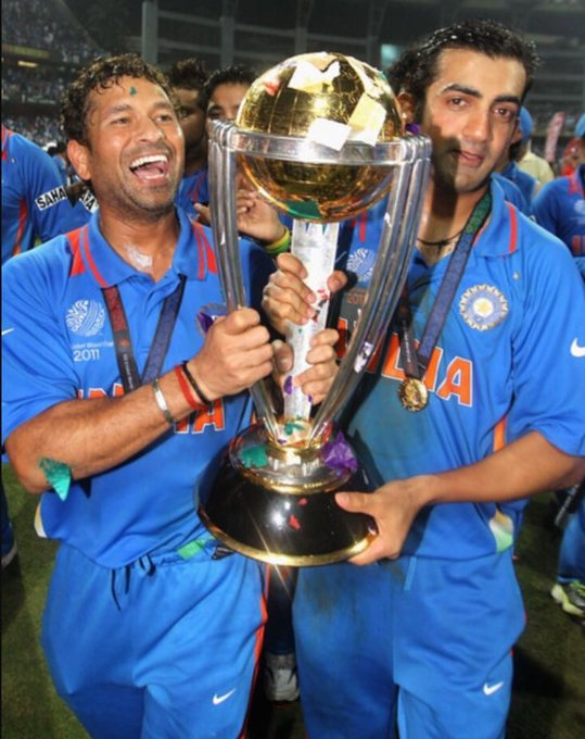 Fondly remember your innings from the World Cup final, @GautamGambhir! Have a great year ahead. Photo
