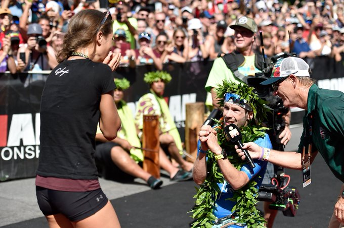 A World Championship Engagement. Congratulations @PatrickLange1! #IMWC Photo