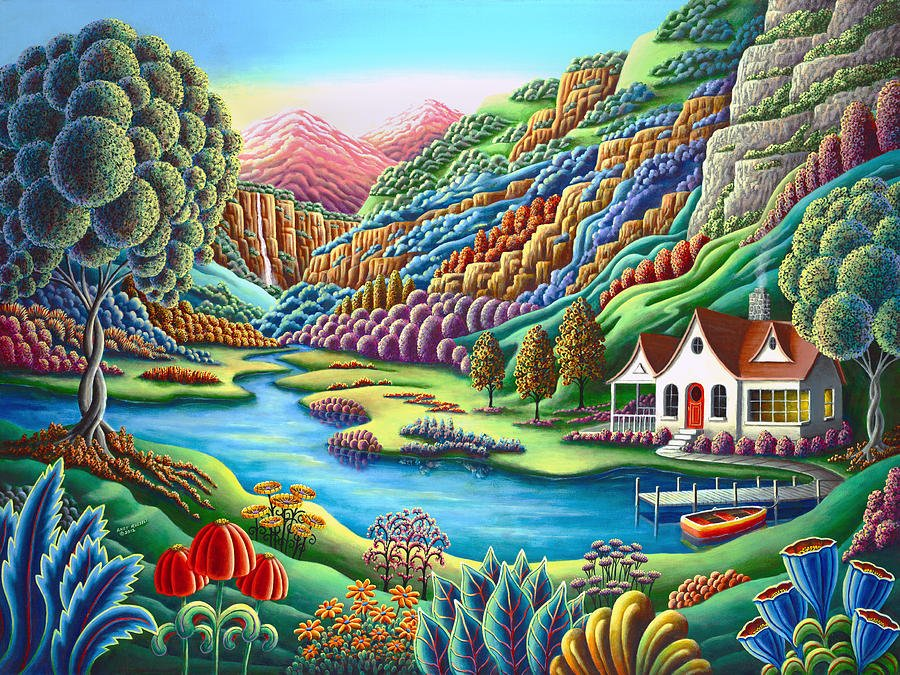 With every rising of the sun, think of your life as just begun... ― Ella Wheeler Wilcox  Painting: Daybreak by Andy Russell <br>http://pic.twitter.com/SlK8IG2l9x
