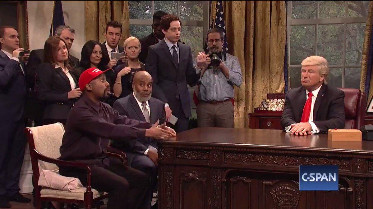 Alec Baldwin Embraces His 'Black Trump' In Crazed 'SNL' Meeting With 'Kanye'
