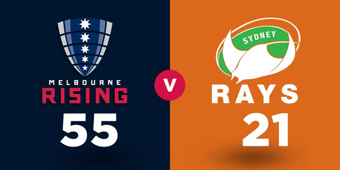 FULL TIME | Rising find another gear in the second half to sting the Rays 55-21! #NRC18 #RISvRAY Photo