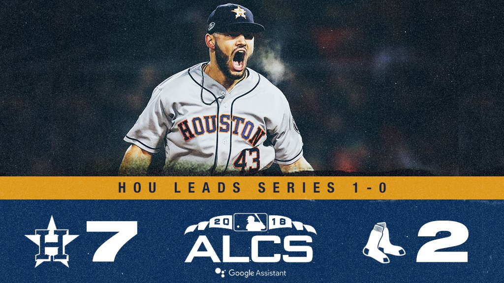 They're the defending champs for a reason. #ALCS https://t.co/yFlmRMcE82
