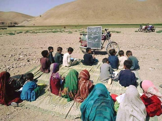 #Beside all the challenges in Afghanistan #Afghan childreen trying for brightness Photo