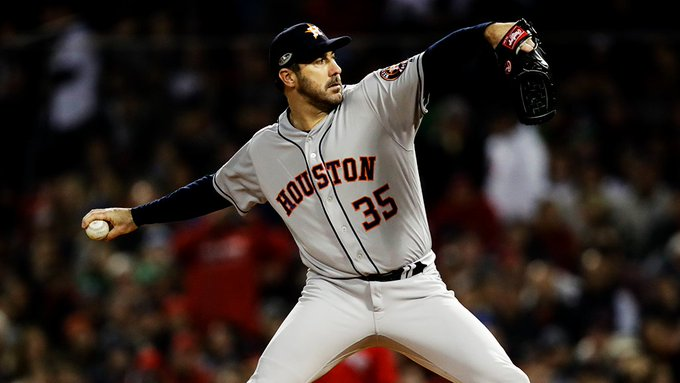 .@JustinVerlander gets his 13th #postseason win. That is the 2nd most EVER by an AL pitcher (Andy Pettitte, 19). Photo