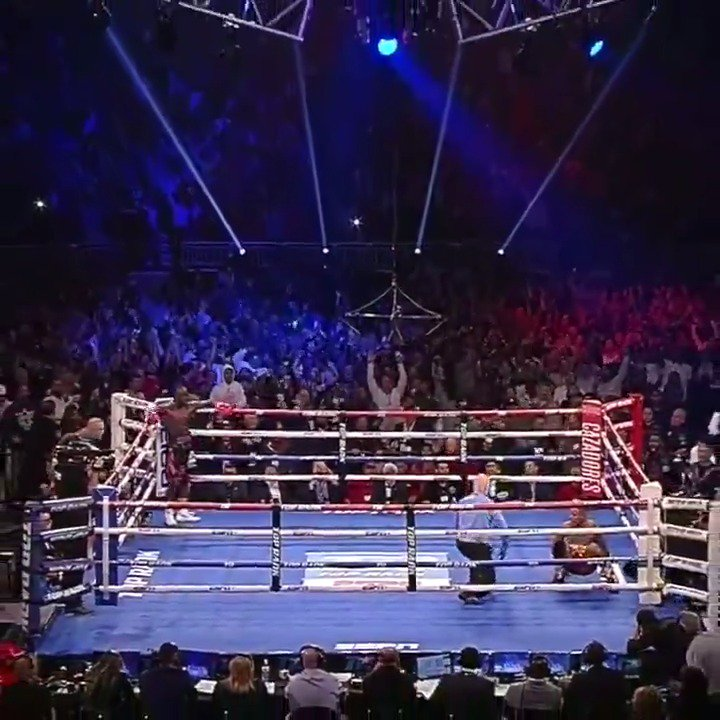 WHAT AN ENDING! Here's the moment Terence 'Bud' Crawford removed all doubt.