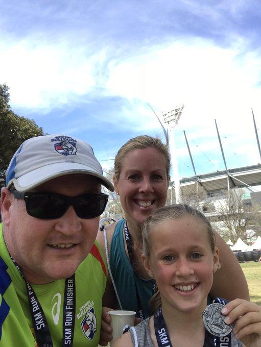 Family fun at MCG well done Layla you were a champion #melbmara #greatfunbutbloodyHOT Photo