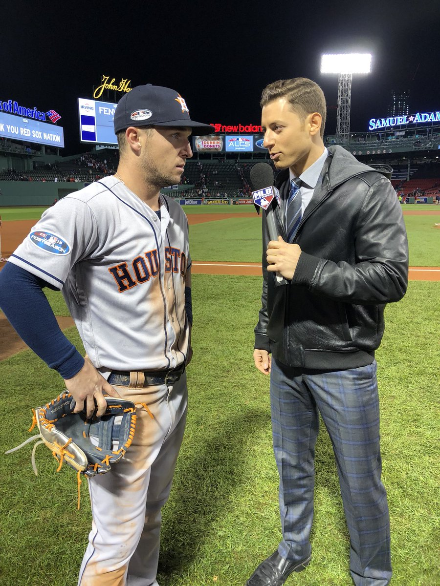 Catch my postgame chats with @ABREG_1 & @GeorgeSpringer on @MLBNetwork all night