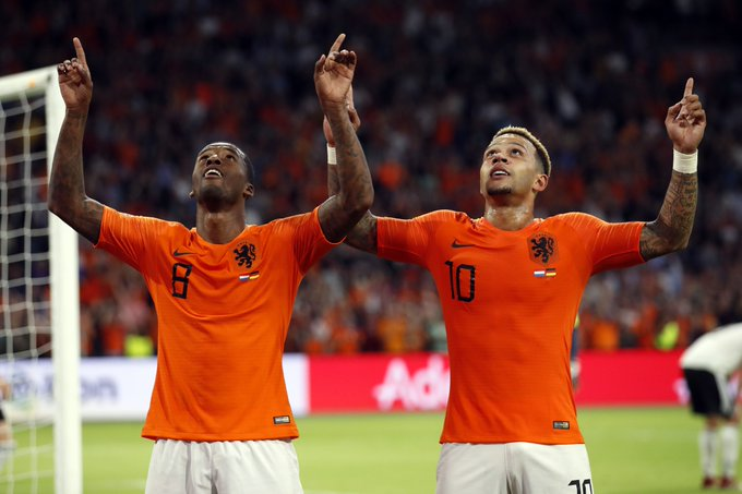 It was a memorable night for the Netherlands as they comfortably beat their rivals while Germany have now gone 3 competitive games without a goal. Watch the UEFA #NationsLeague highlights here >> Foto