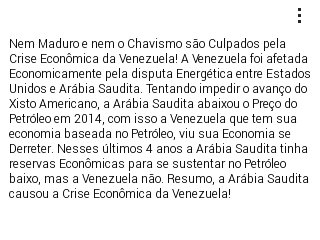 Nem Maduro e nem o Chavismo são Culpados pela Crise Econômica da Venezuela! #Eleições2018 #Fantastico Foto